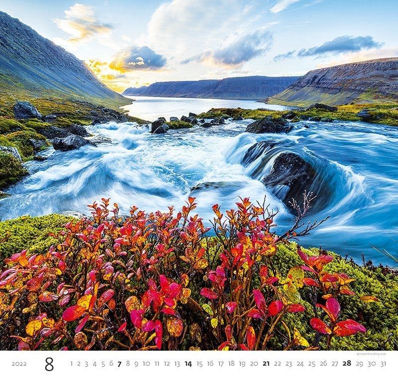 Kalendarz ścienny wieloplanszowy Aqua 2022 - sierpień 2022