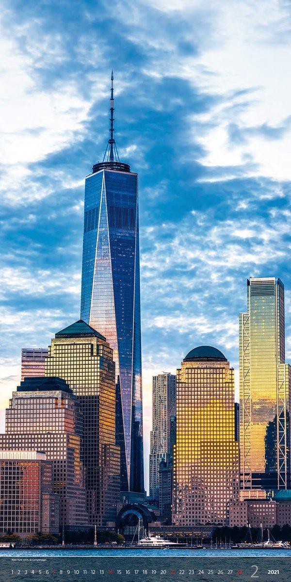 Kalendarz ścienny wieloplanszowy Above the  Cities 2021 - exclusive edition - luty 2021