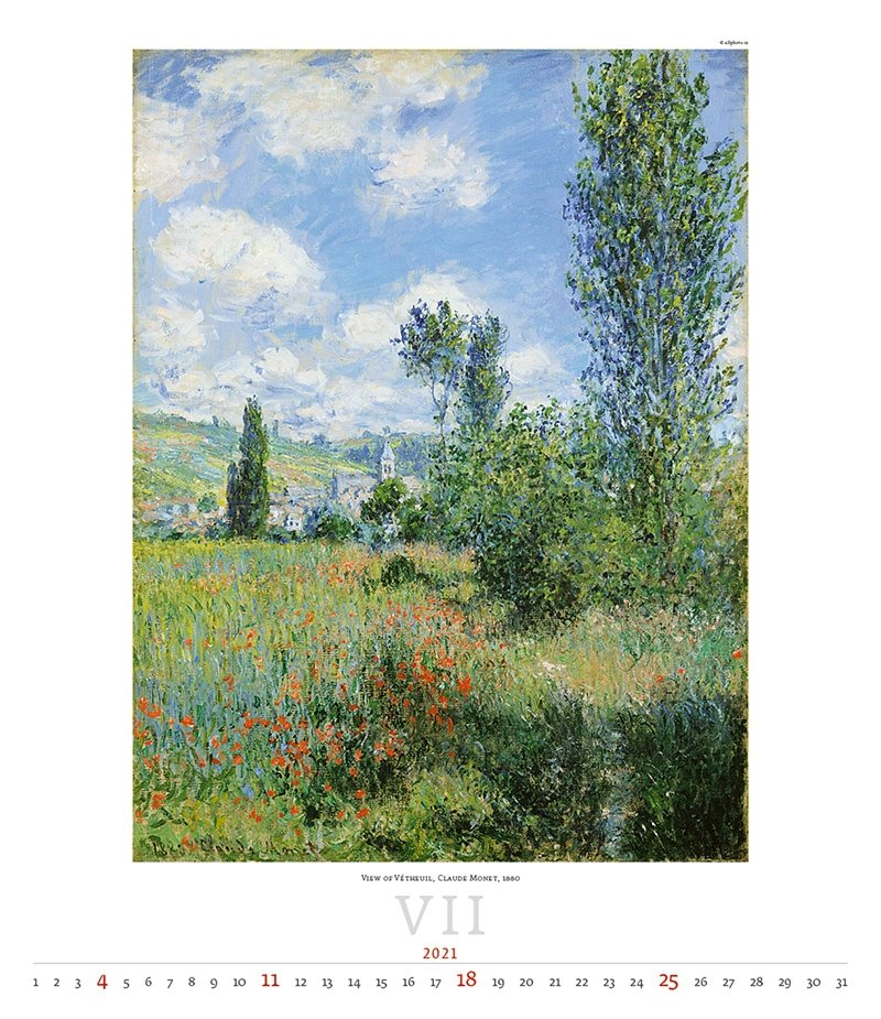 Kalendarz ścienny wieloplanszowy Impressionism 2021 - exclusive edition - lipiec 2021