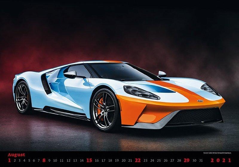 Kalendarz ścienny wieloplanszowy Cars 2021 - sierpień 2021