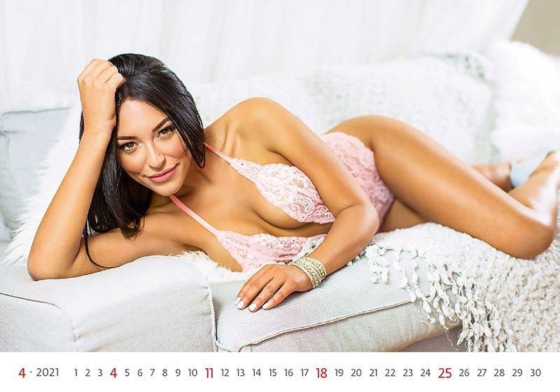 Kalendarz ścienny wieloplanszowy Flirt 2021 - kwiecień 2021