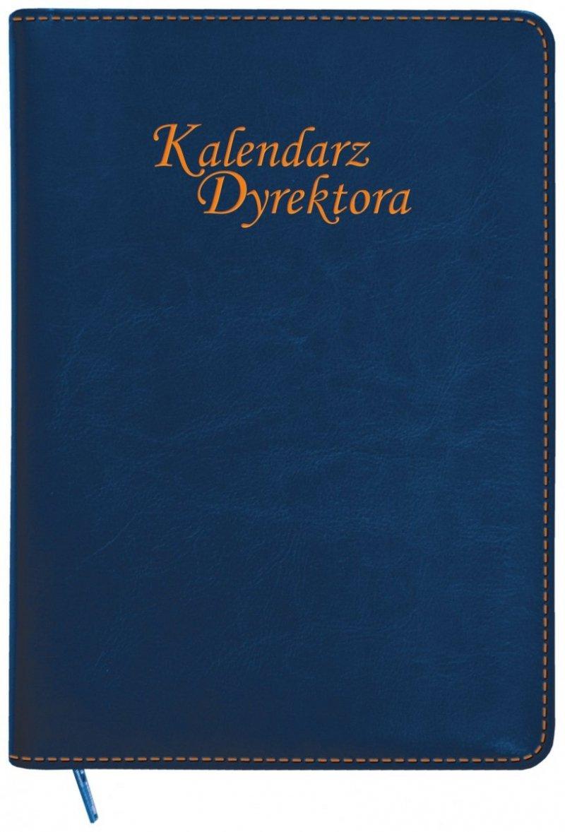 Kalendarz dyrektora oprawa ZIP w kolorze granatowym