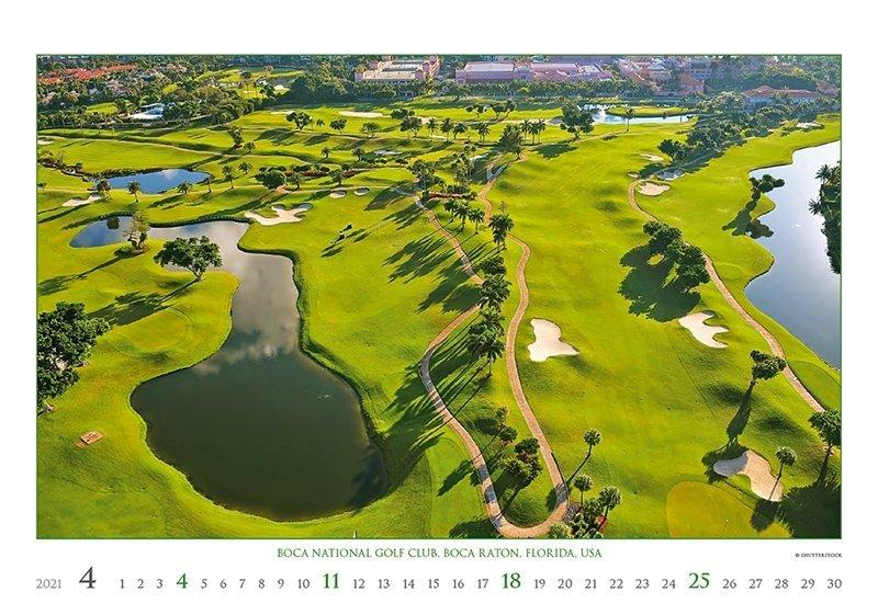 Kalendarz ścienny wieloplanszowy Golf 2021 - exclusive edition - kwiecień 2021