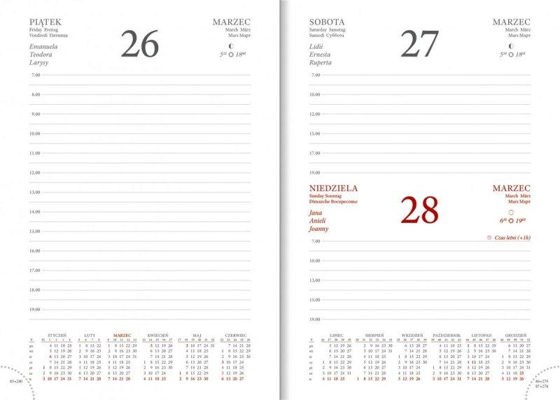 Kalendarz A5 dzienny z planerem przed każdym miesiącem