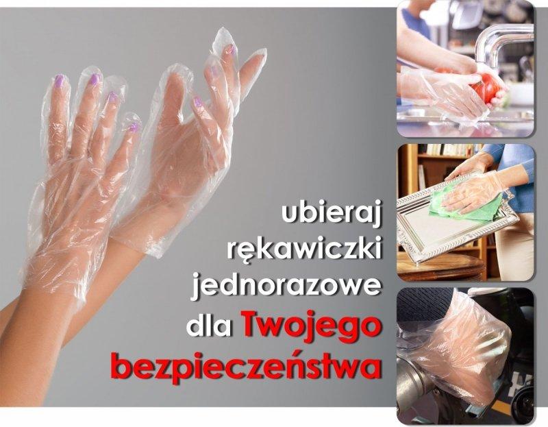 Rękawiczki jednorazowe HDPE bezpieczne