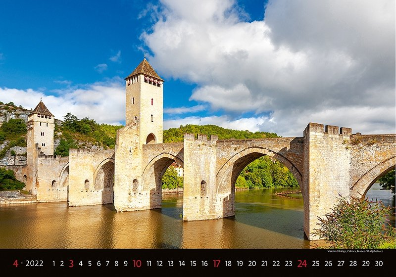 Kalendarz ścienny wieloplanszowy Bridges 2022 - kwiecień 2022