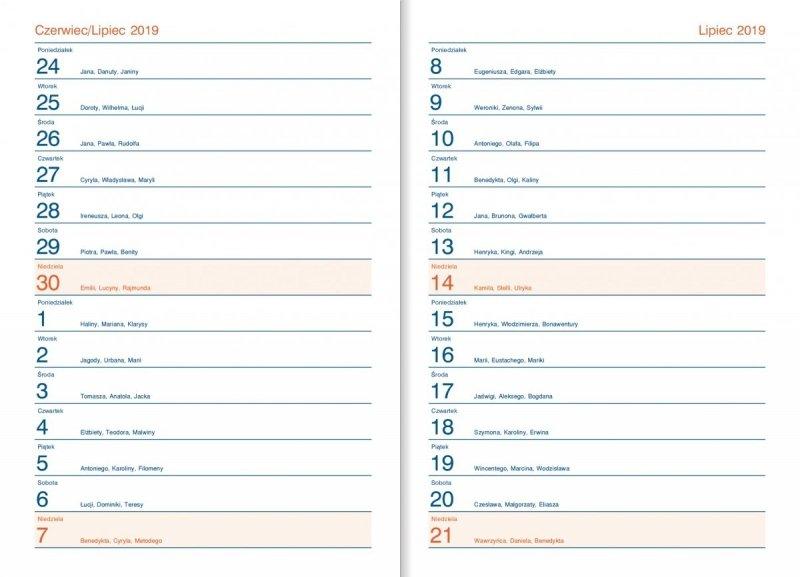 Kalendarz nauczyciela - skrócone kalendarium (wakacje 2019, wakacje 2020)