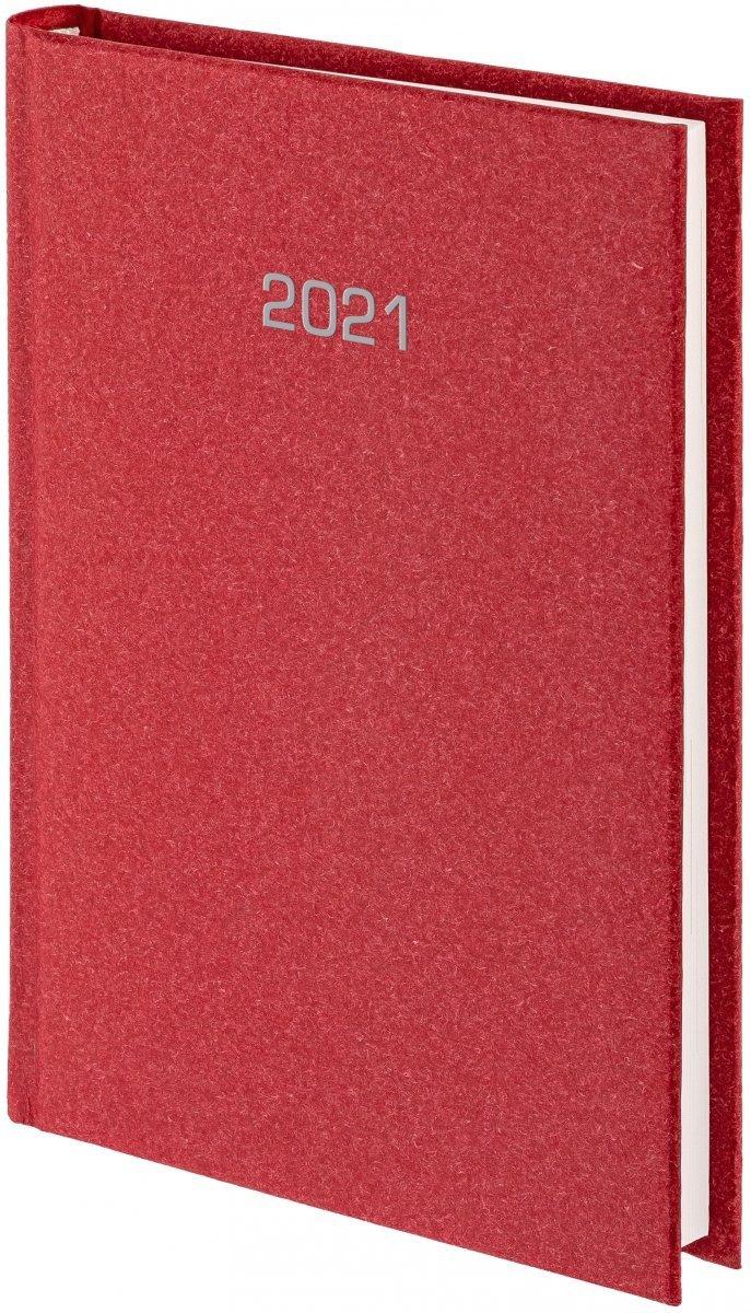 Kalendarz książkowy 2021 A4 dzienny oprawa NATURA bordowa