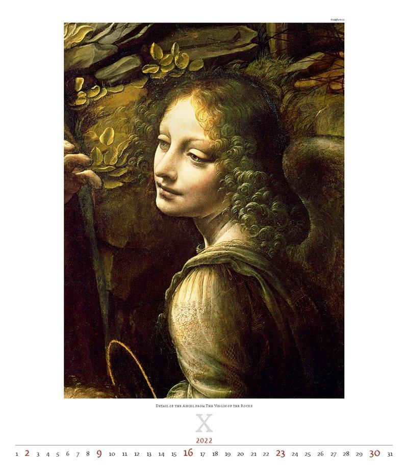 Kalendarz ścienny wieloplanszowy Leonardo da Vinci 2022 - exclusive edition  - październik 2022