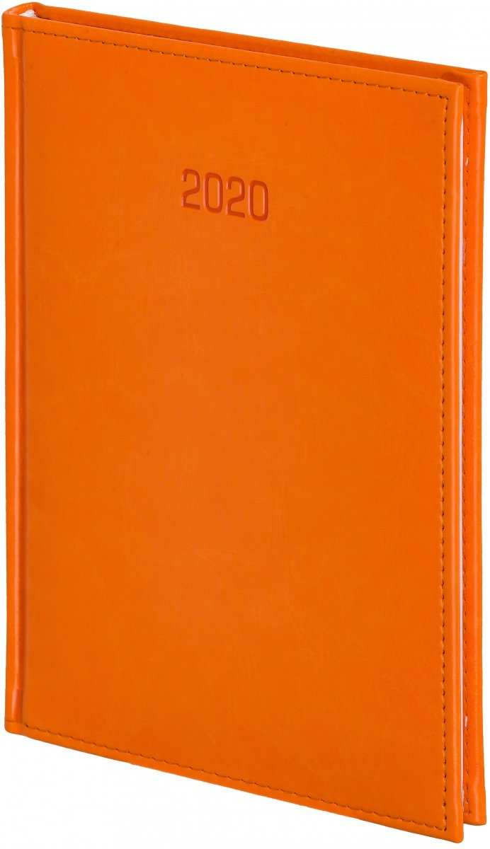 Kalendarz książkowy 2020 A4 tygodniowy oprawa NEBRASKA pomarańczowa - oprawa skóropodobna