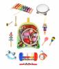 Instrumenty muzyczne - drewniane w plecaczku