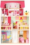 Drewniany domek dla lalek - Rezydencja Malinowa ECOTOYS