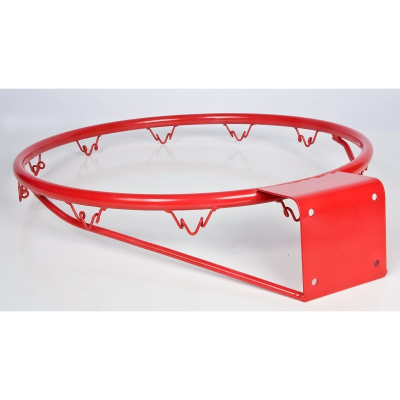 Obręcz do kosza 42 cm z siatką - czerwona