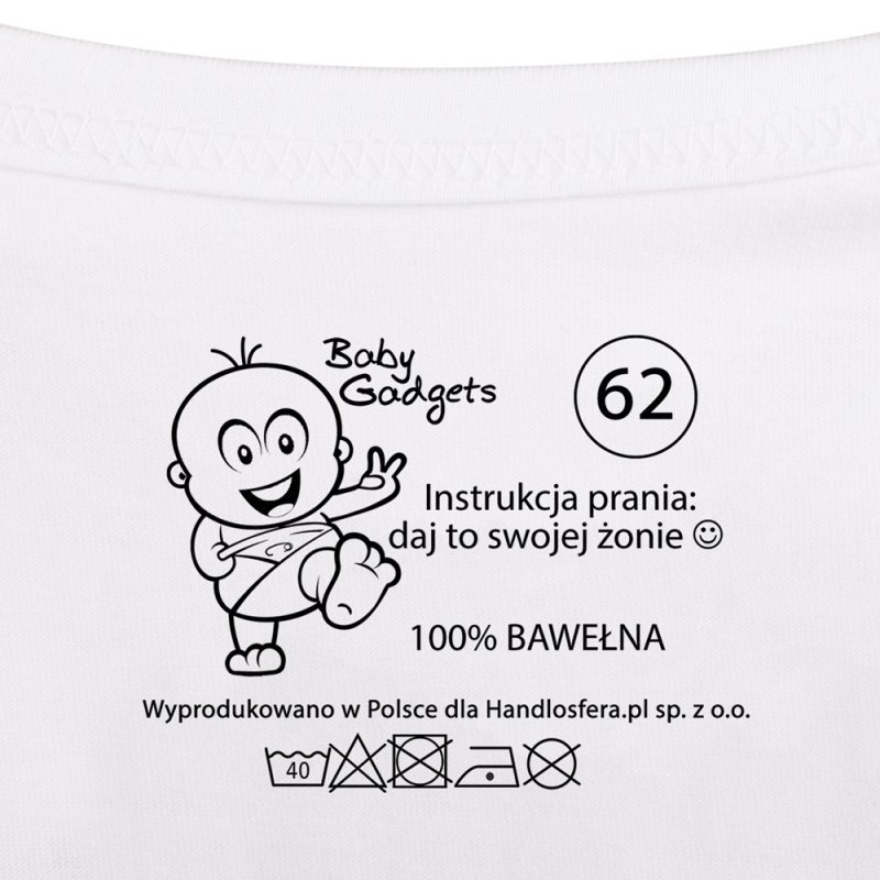 Baby Instructions - Body z instrukcją dla Taty