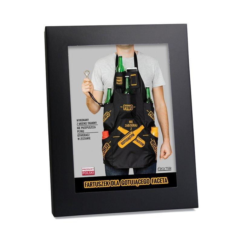 Fartuszek dla gotującego faceta kuchenny męski BBQ