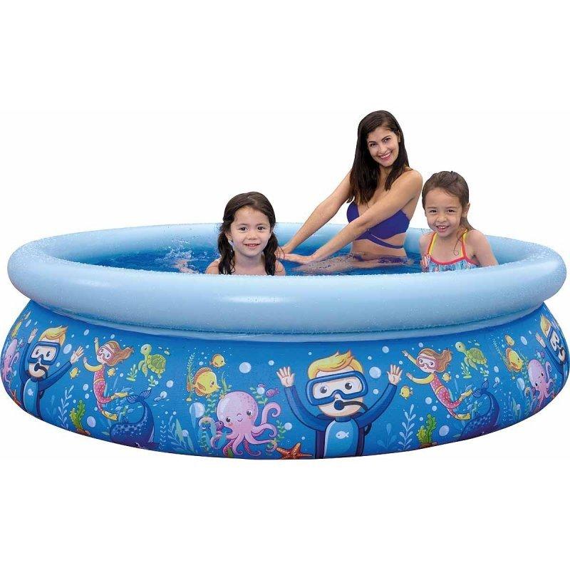 Basen rozporowy dziecięcy Podwodny świat 205x47cm