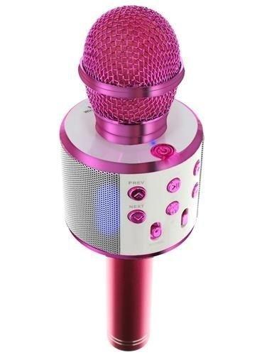 Mikrofon-dla-dzieci-karaoke-z-głośnikiem-różowy-23x7,5