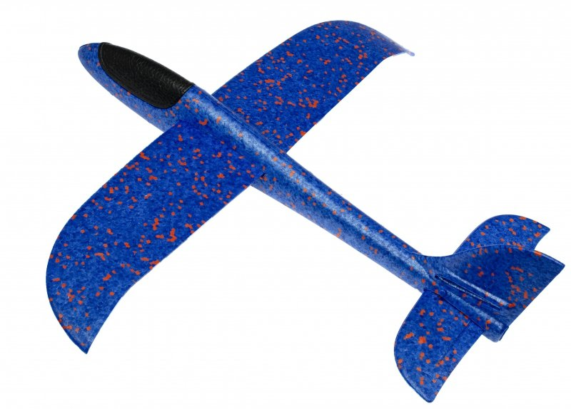 Szybowiec Samolot styropianowy niebieski 47x49cm