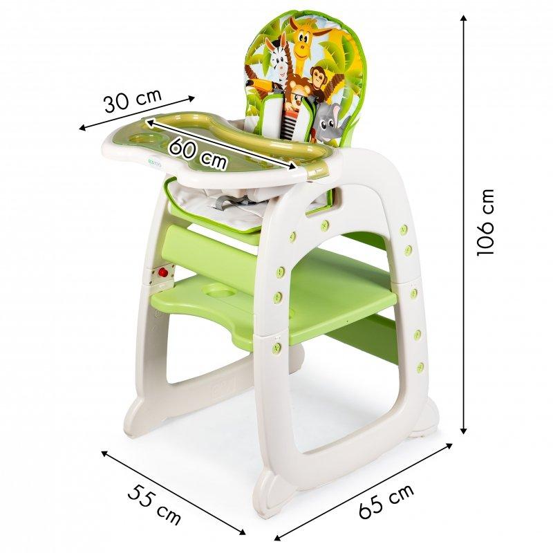 Fotelik do karmienia 2w1 green ECOTOYS