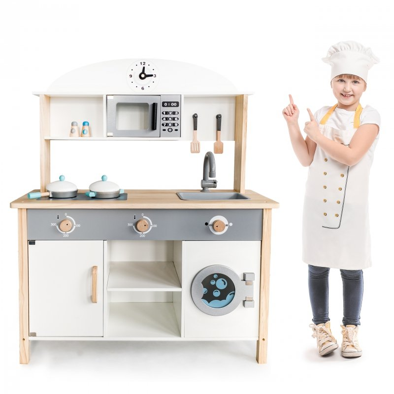 Drewniana kuchnia XXL dla dzieci ECOTOYS