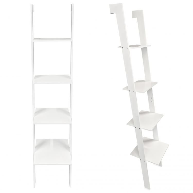 Regał drabina biały 4 półki