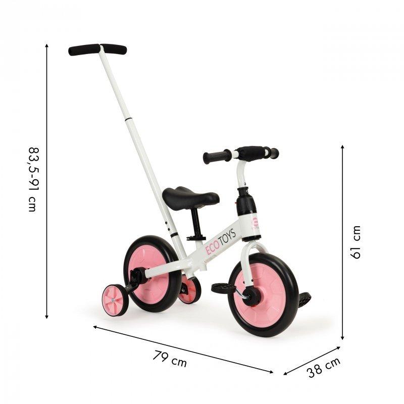 Rower rowerek biegowy z pedałami 3w1 kółka boczne Ecotoys