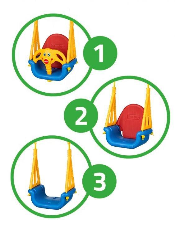 Huśtawka ogrodowa kuebłkowa domowa dla dzieci 3w1