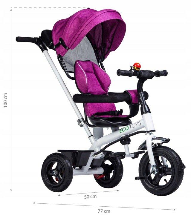 Rower rowerek trójkołowy wózek jeździk pchacz  Ecotoys