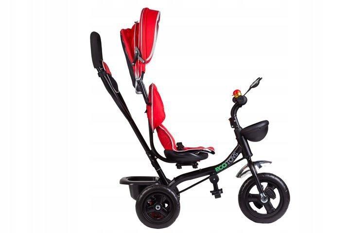 Rowerek trójkołowy z obracanym siedzeniem Czerwony