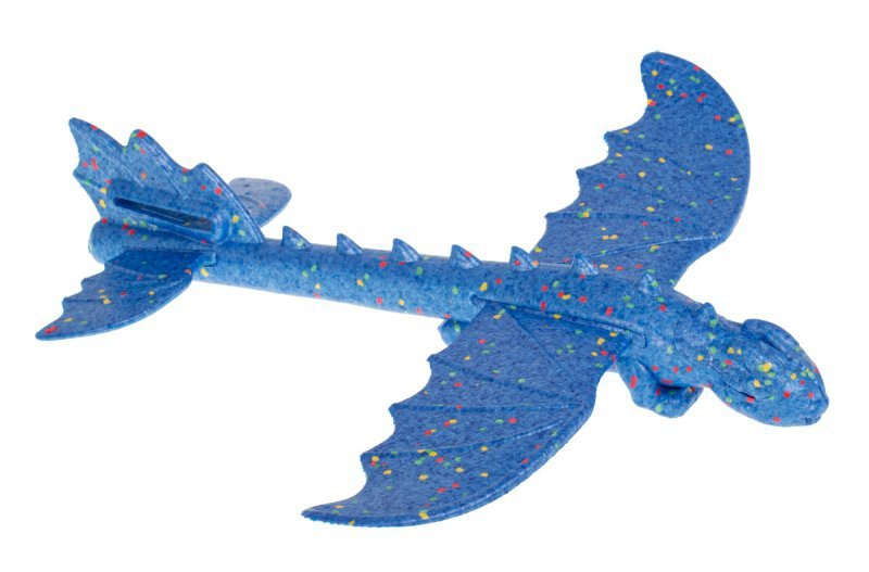Szybowiec samolot styropianowy dinozaur niebieski