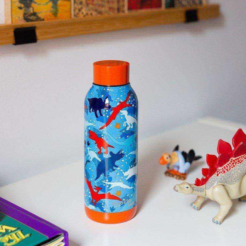 Quokka Solid Kids - Butelka termiczna ze stali nierdzewnej 510 ml (Dinosaur)