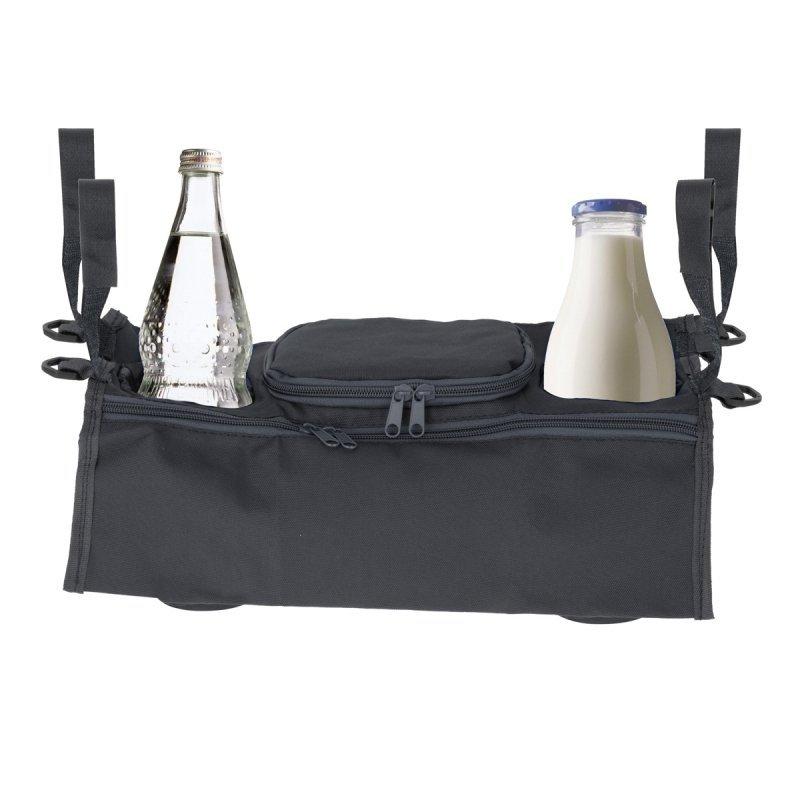 Organizer do wózka na napoje butelkę szary