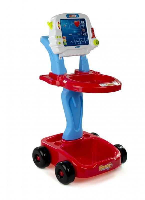Zestaw Lekarza wózek EKG + akcesoria 17 elementów