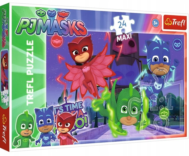 Puzzle 24 MAXI Pidżamersi Ukryci bohaterowie