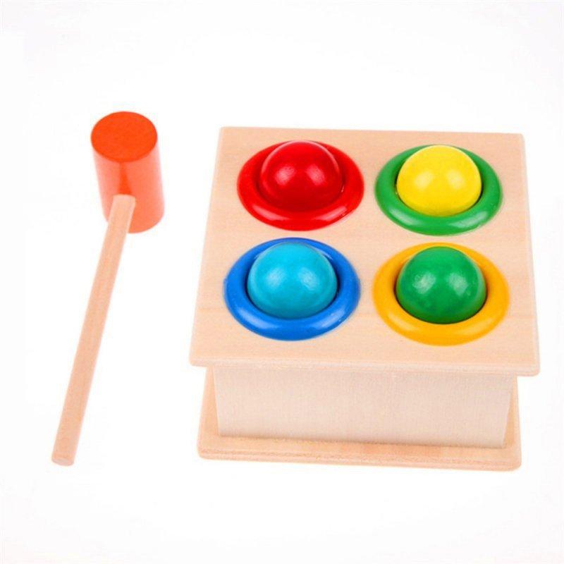 Gra wbijanka przebijanka wbijak drewniany + młotek