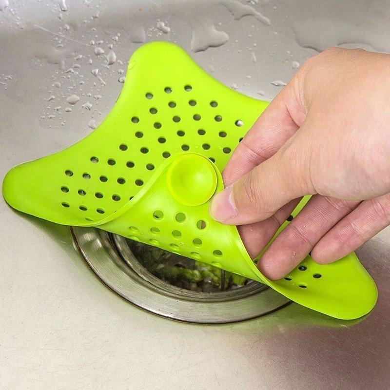 Filtro sitko silikonowe do zlewu umywalki wanny różowy