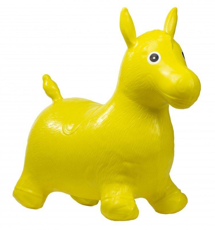 Skoczek gumowy koń żółty