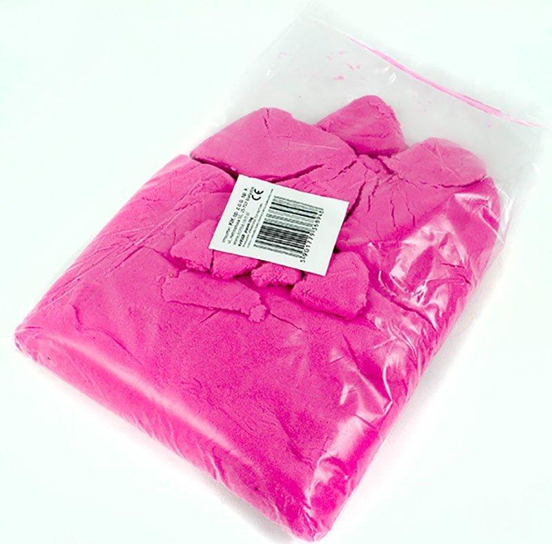 Piasek kinetyczny 1 kg w woreczku  różowy