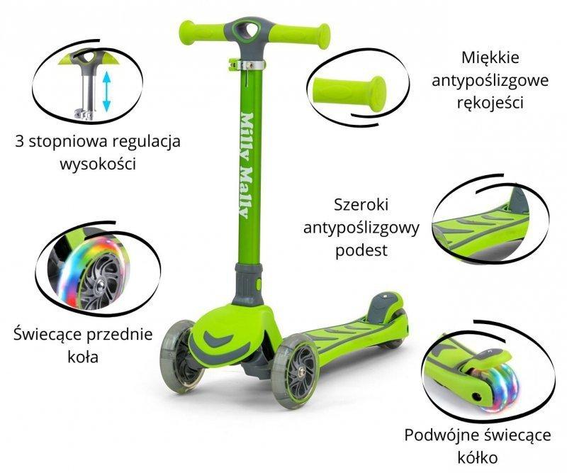 Hulajnoga 3 kołowa balansowa Scooter Boogie Blue