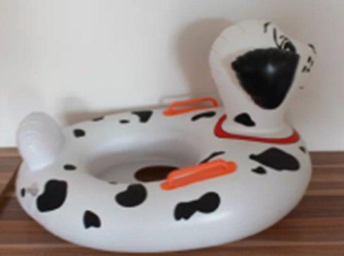 Materac dmuchany pontonik koło dzieci dalmatyńczyk  65x50x40