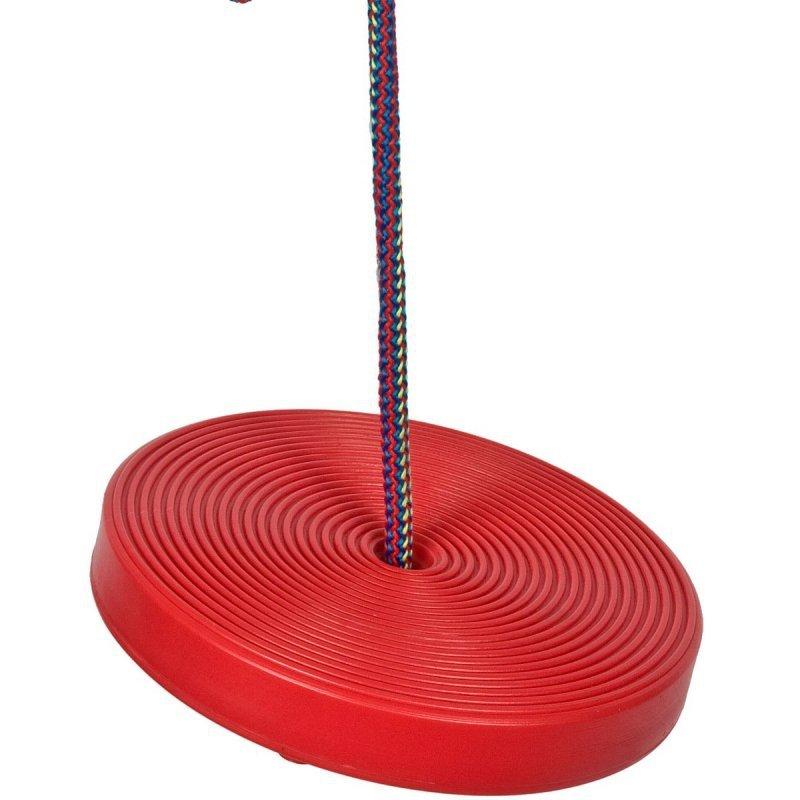 Huśtawka-ogrodowa-koło-plastikowa-czerwona