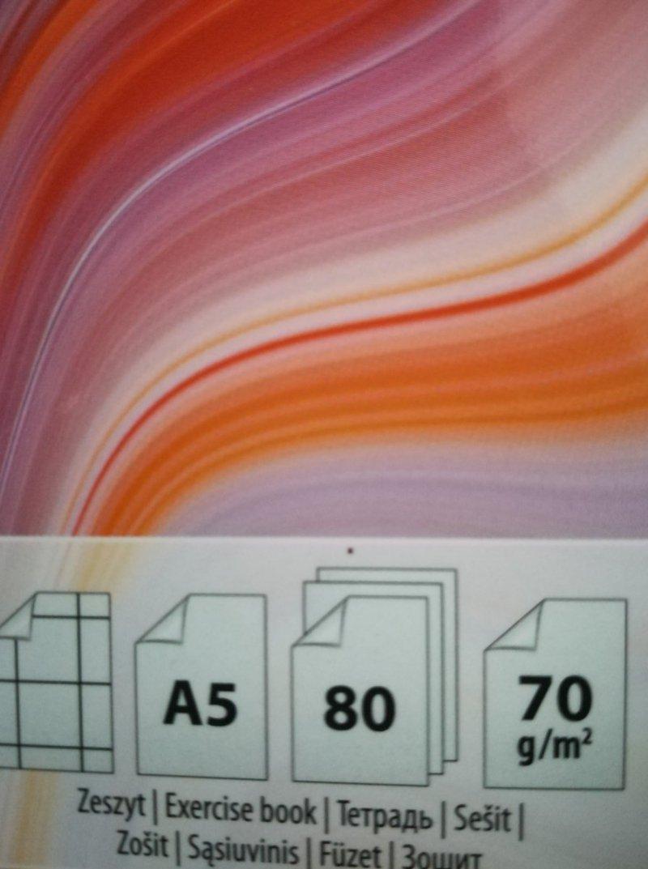 Zeszyt  A5 80 kratka oprawa miękka multikolor