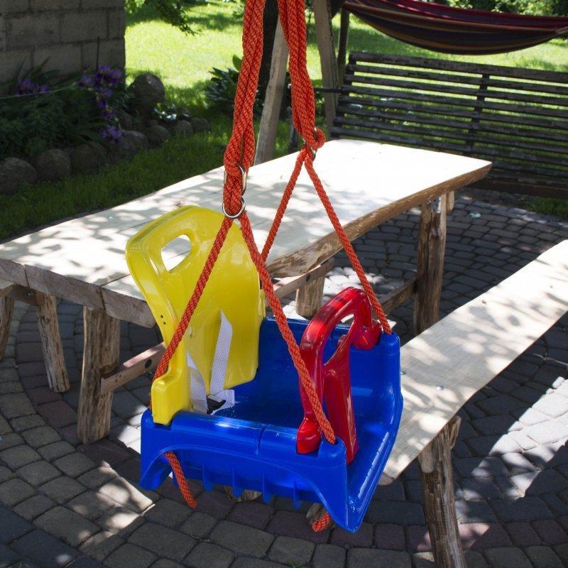 Huśtawka ogrodowa 3 w 1 krzesełko deska mocna zawieszana