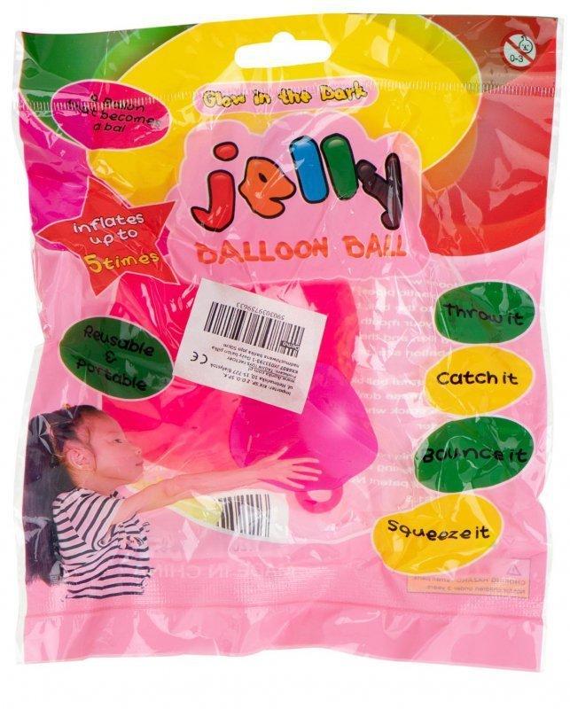 Balon piłka nadmuchiwana bańka jojo 50 cm RÓŻOWA