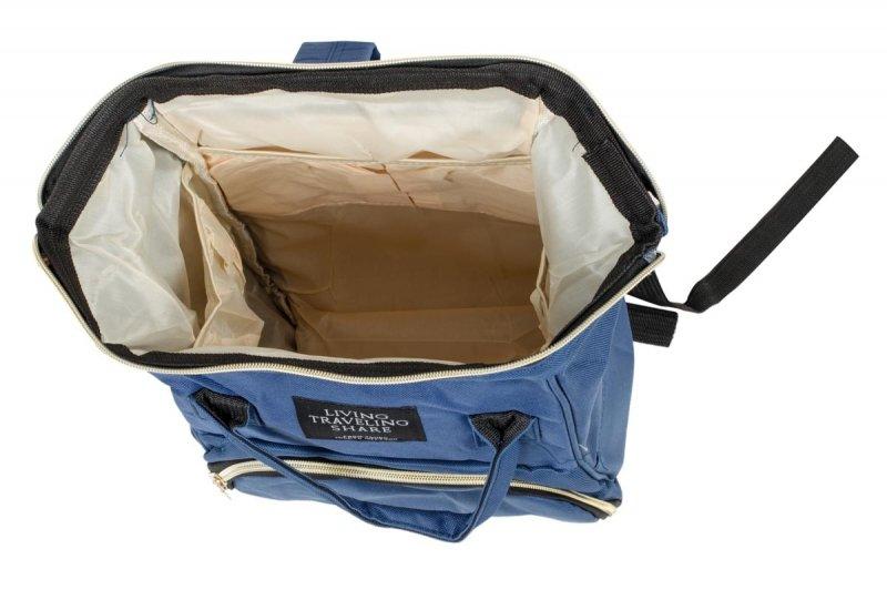 Plecak torba mamy do wózka organizer 3w1 granatowy