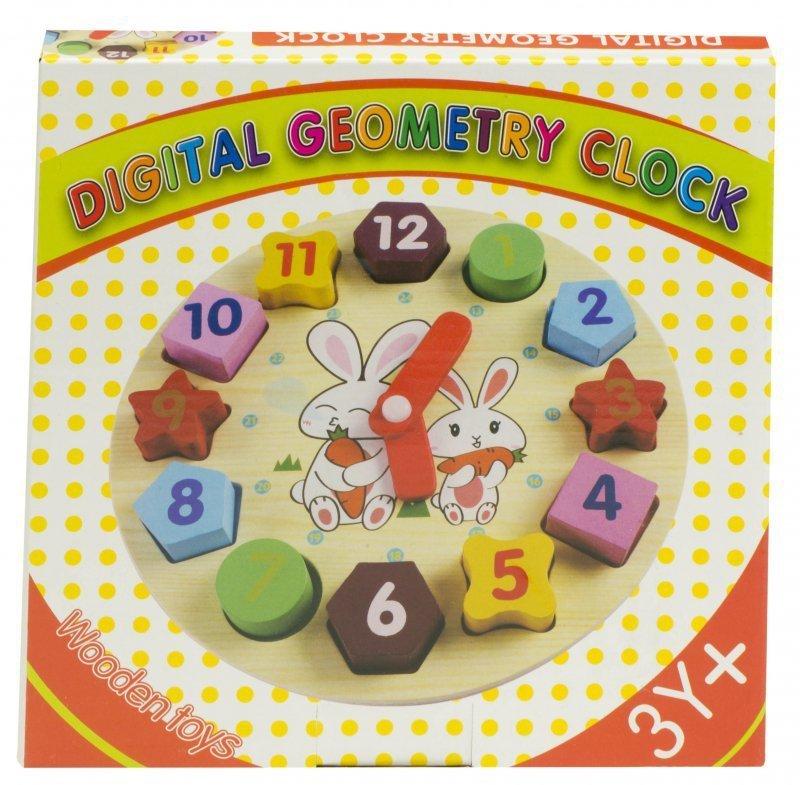 Sorter drewniany zegar edukacyjny