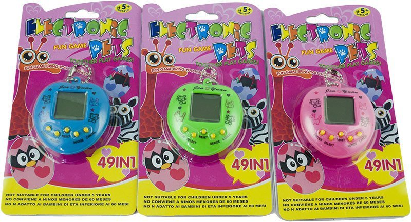 Zabawka Tamagotchi elektroniczna gra 49 w 1 zielony