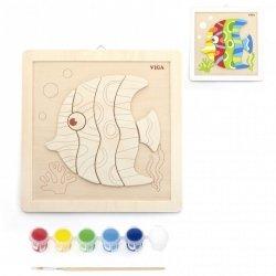 VIGA Zestaw Kreatywności DIY Malowanie Rybka