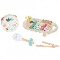 CLASSIC WORLD Zestaw Instrumenty Muzyczne dla Dzieci Cymbałki Bębenek Grzechotka  5 el.