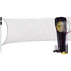 Zestaw do badmintona 5W1 słupki siatka rakiety lotki pokrowiec 500 Pro Best Sporting